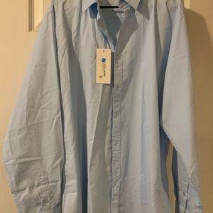 Men's light blue button down shirt. NWT